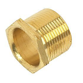 "1/4 x 3/8"" Brass hex bush"