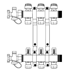 15mm Manifold - 4 port