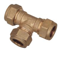 22mm compression fitting equal Tee (Bag of 10=£32.40)