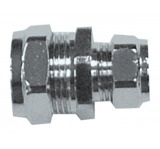 22mm x 15mm compression chrome reducing coupling fitting (Bag of 10=£35.10)