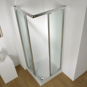800mm White Corner Enclosure