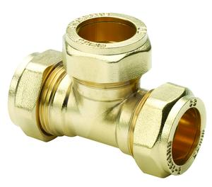 8mm compression fitting Equal Tee (Bag of 10=£12.06)