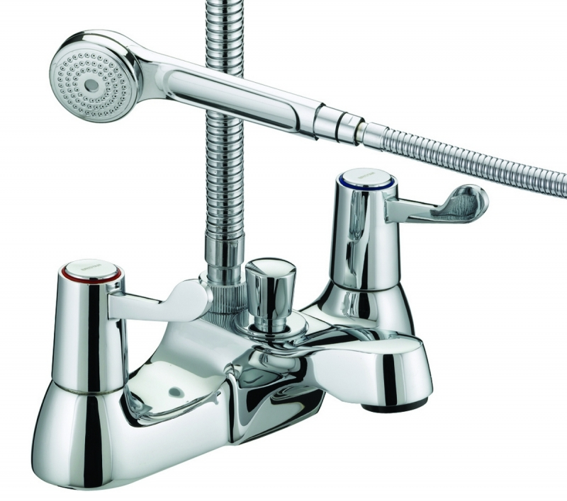 Bristan Lever Bath Shower Mixer 3 76mm Levers