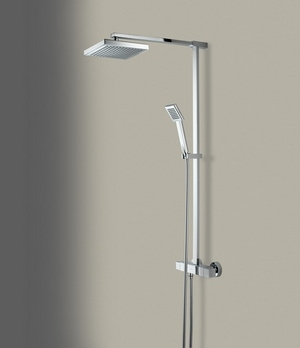 Bristan Quadrato Thermostatic Bar Shower with Handset
