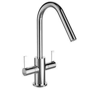 Cashew Easy Fit Twin Lever Sink Mixer