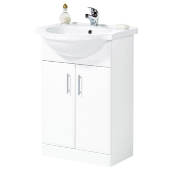 Frontline Aquachic high gloss white 500 base unit & top inc. basin