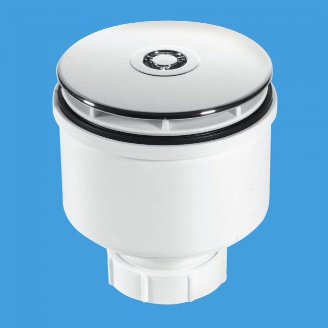 Mcalpine St90cp10 V 90mm Shower Trap With 50mm Water Seal