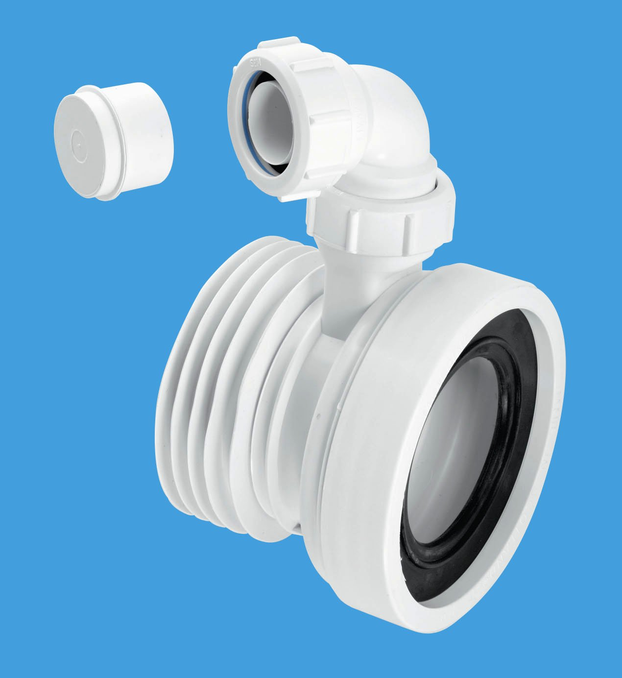 Mcalpine Wc Con1v Straight 4 110mm Rigid Wc Connector With