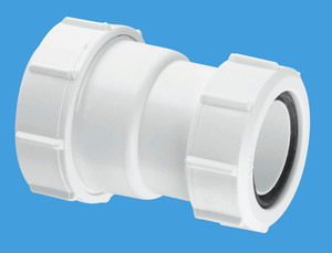 "ST28M Straight Connector 1 1/4"" x 1 1/2"". McAlpine"